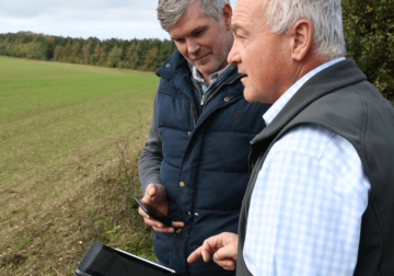 Nick Padwick & Andy Cooper using Geofolia Mobile App for field records